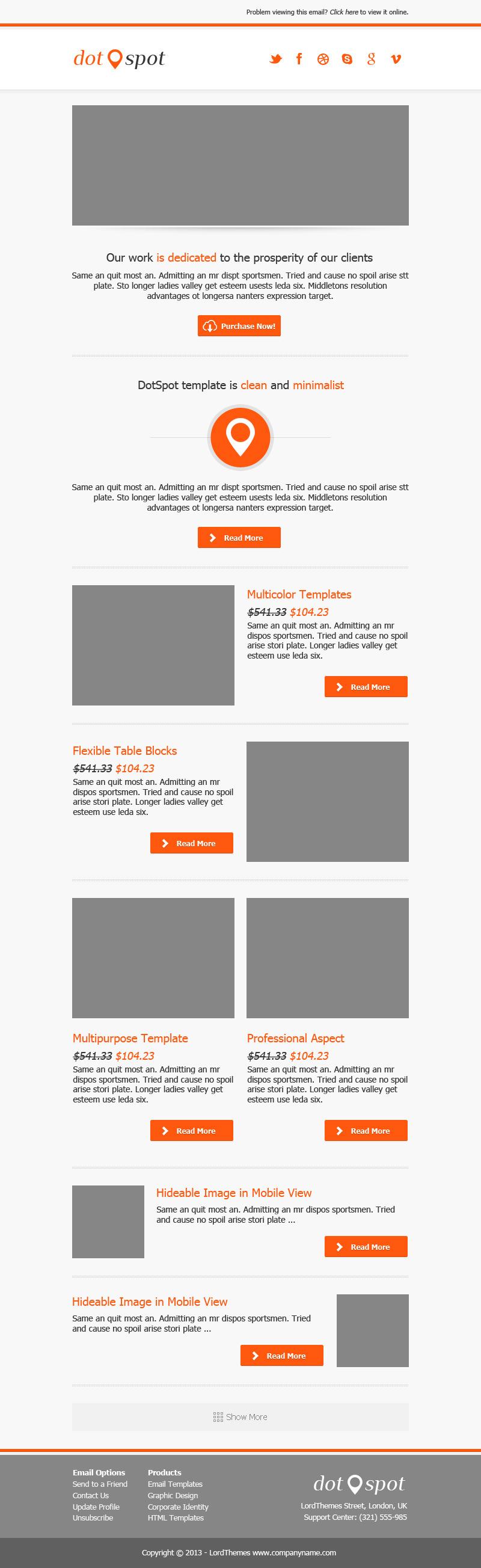 DotSpot - Responsive Email Template