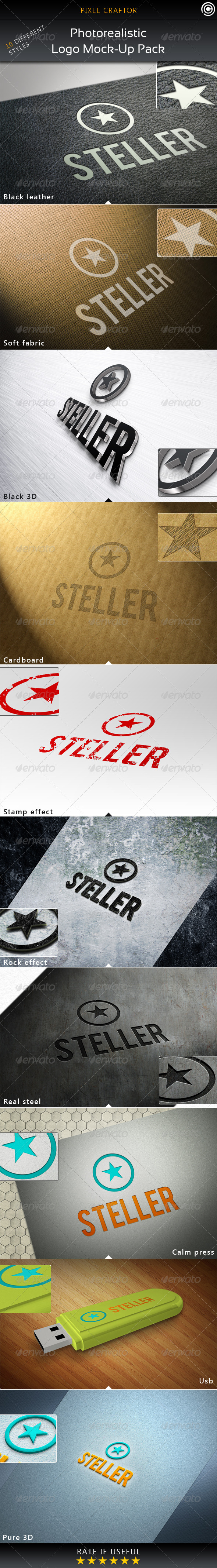 GraphicRiver 10 Photorealistic Logo Mock-Ups 4872361
