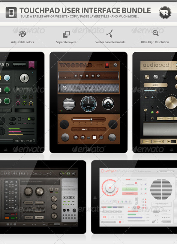 GraphicRiver Touchpad User Interface Bundle 505506