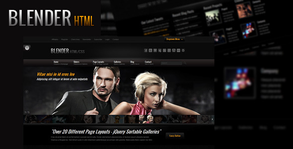 ThemeForest - Blender HTML Portfolio Template - RiP