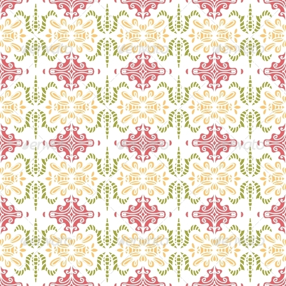 GraphicRiver Background with Seamless Pattern in Ethnic Style 4887840