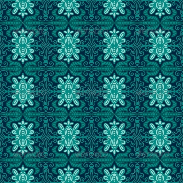 GraphicRiver Background with Seamless Pattern in Ethnic Style 4887851