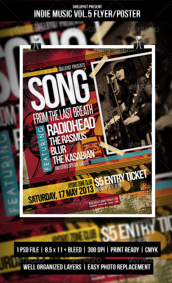 GraphicRiver Indie Music Flyer Poster Vol.5 4820801