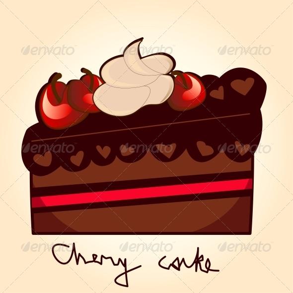 GraphicRiver Pice of Chery Cake 4888071