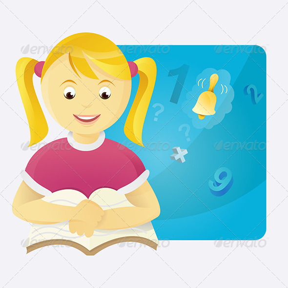 GraphicRiver Girl in Class-Room 4888419