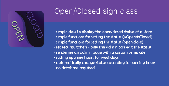 CodeCanyon Open Closed sign 4866352