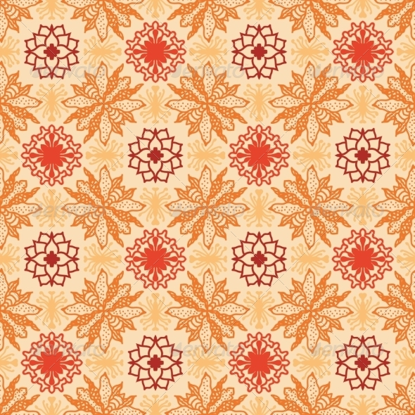 GraphicRiver Floral Pattern in Ethnic Style 4888890