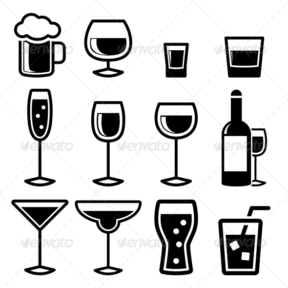GraphicRiver Drink Icons 4888928