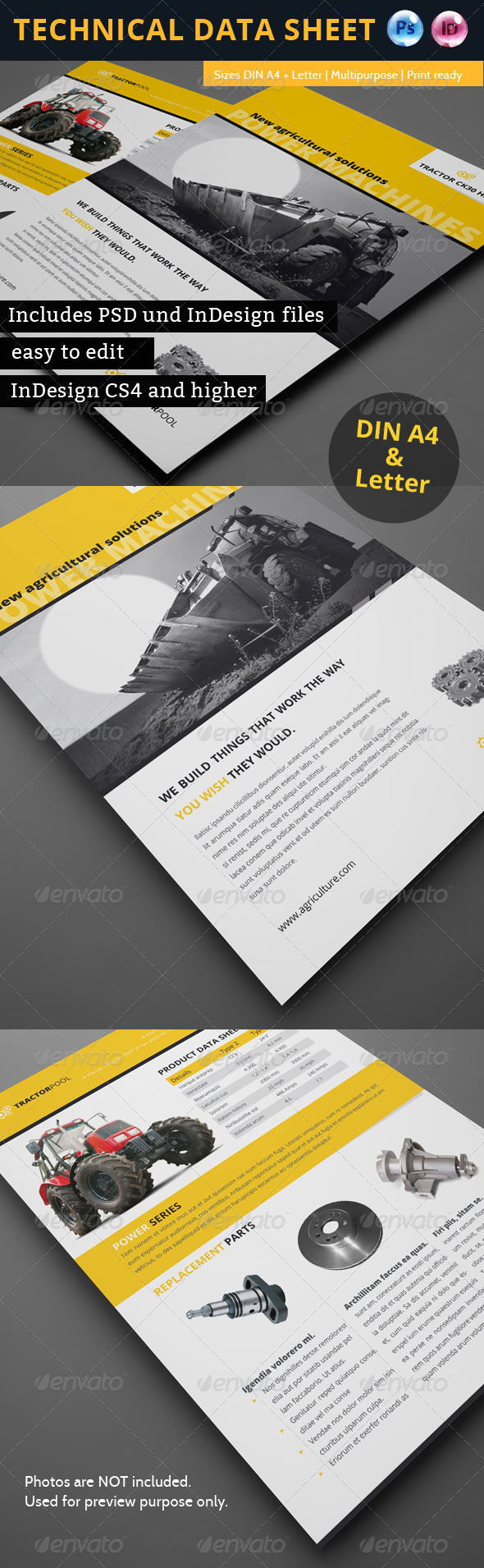 Technical Data or Product Sheet - Corporate Flyers