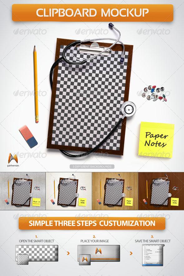 GraphicRiver Clipboard Board Mockup 4889045