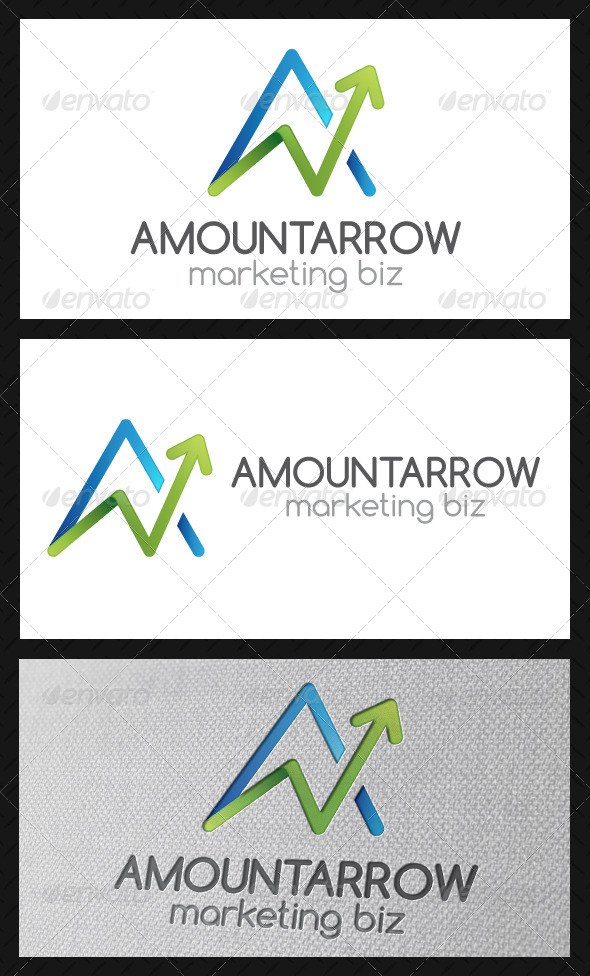 GraphicRiver Marketing A Letter Logo Template 4890760