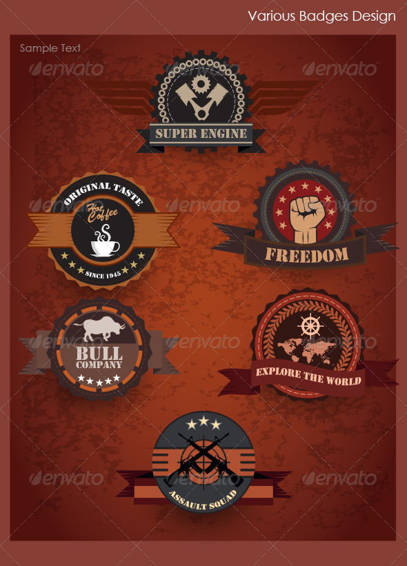 GraphicRiver Various Badges Design 4891150