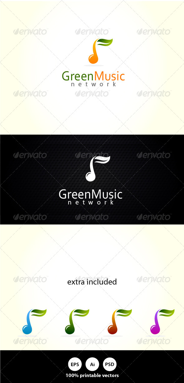Green Music - Symbols Logo Templates