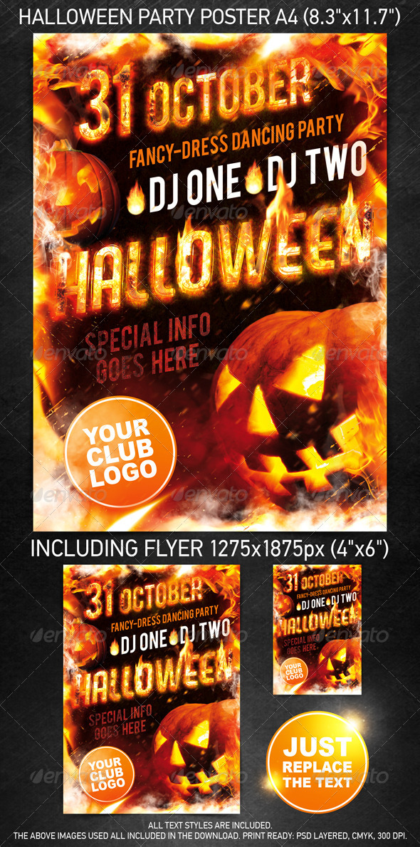 GraphicRiver Halloween Party Template 499778