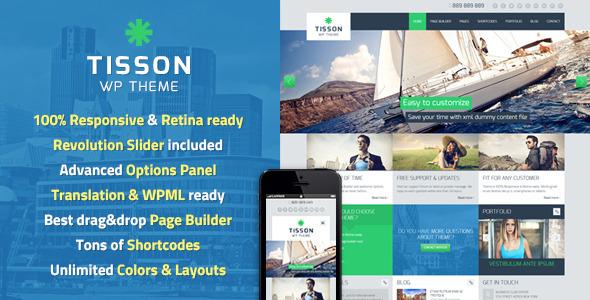 Tisson Premium WordPress Theme (Business) images