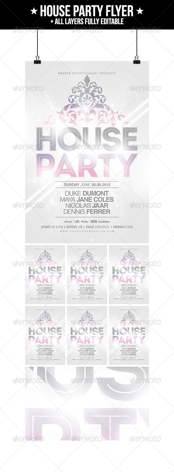 GraphicRiver House Party Flyer 4891397
