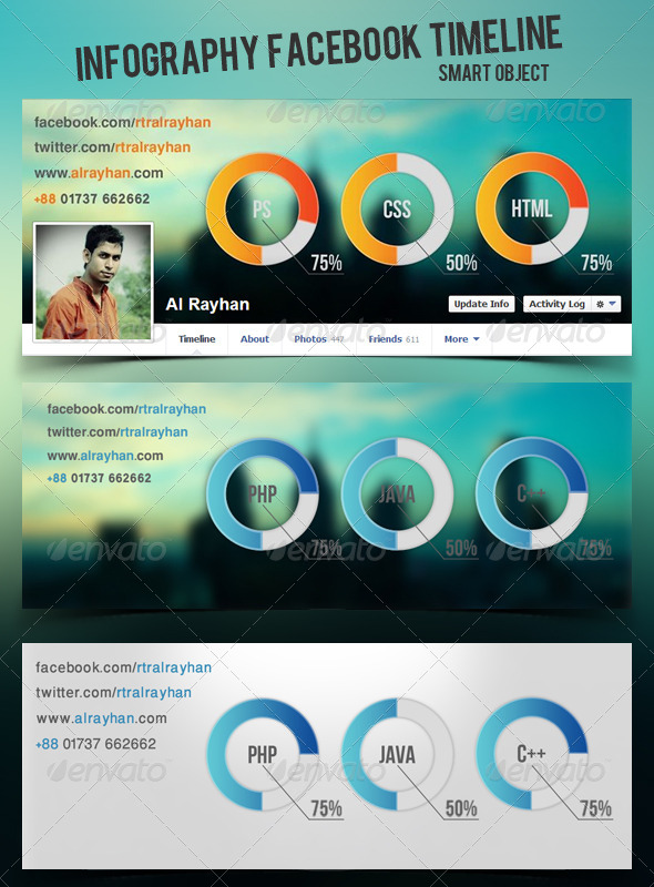 GraphicRiver Infography Fb Timeline 4870273