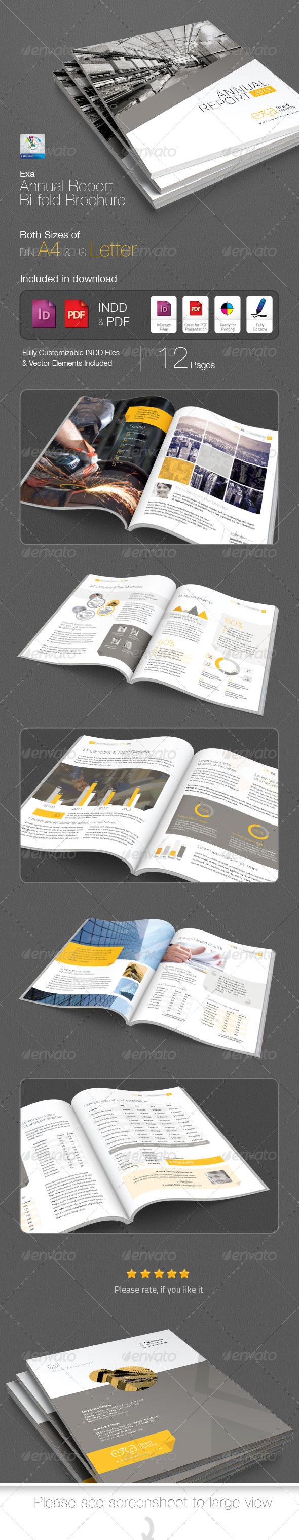 GraphicRiver Exa Annual Report Bi-fold Brochure 4891542