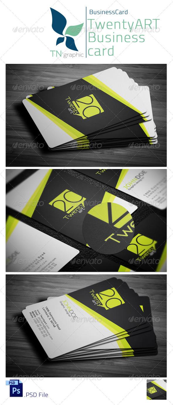 GraphicRiver Twenty art Business card 4768666