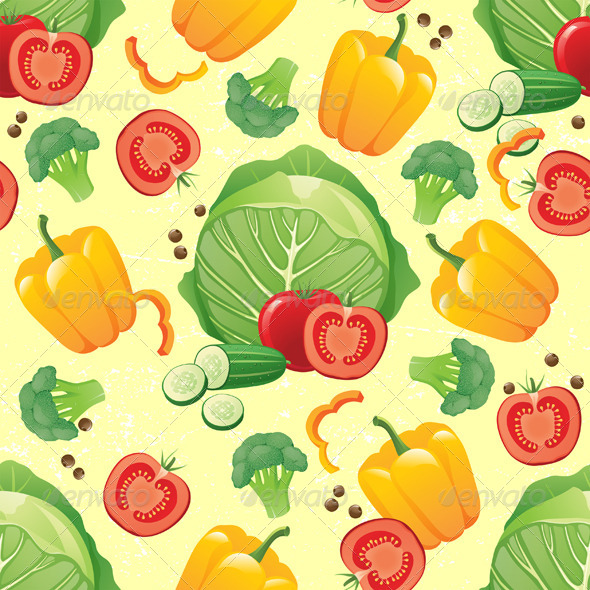GraphicRiver Vegetables Seamless 4891705