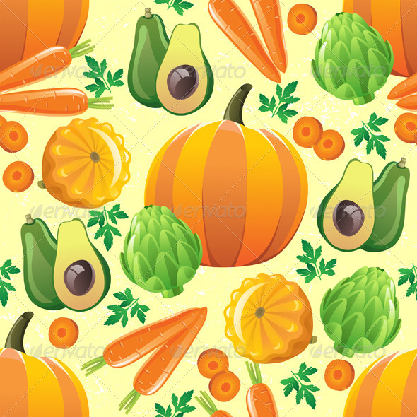GraphicRiver Seamless Vegetables Pattern 4891772