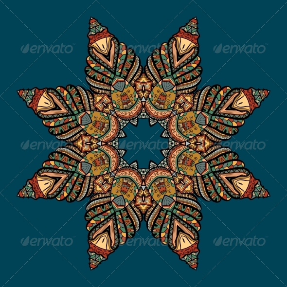 GraphicRiver Vector Pattern with Marine Inhabitants 4891798