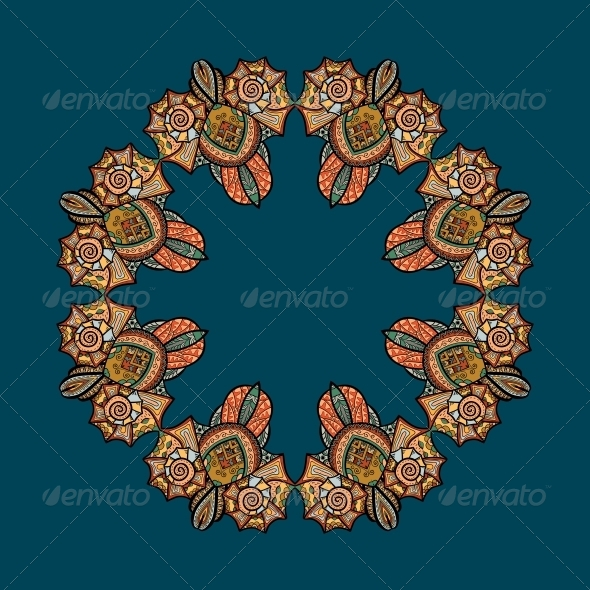 GraphicRiver Vector Pattern with Marine Inhabitants 4891906