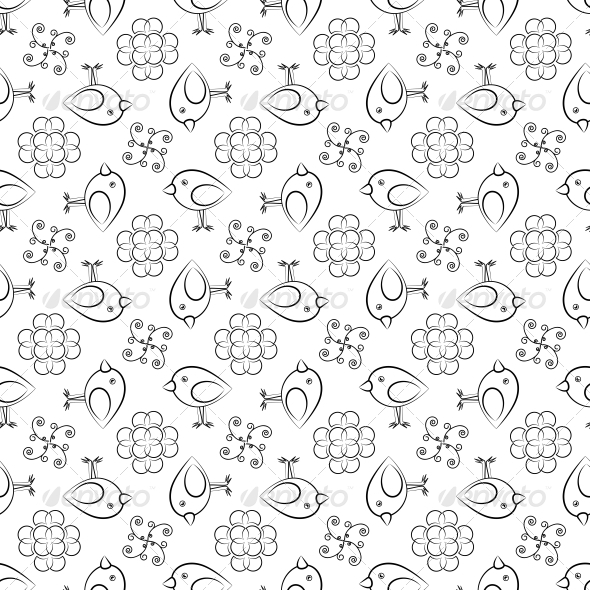 GraphicRiver Background with Birds for Printing 4892059