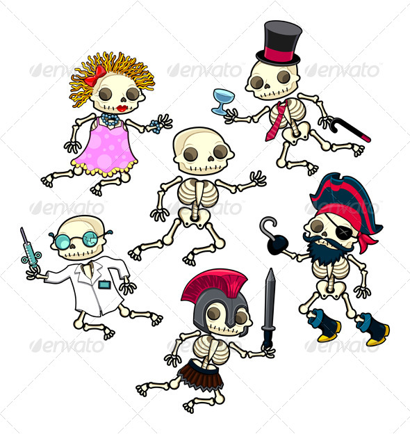 GraphicRiver Funny Skeletons 4892077