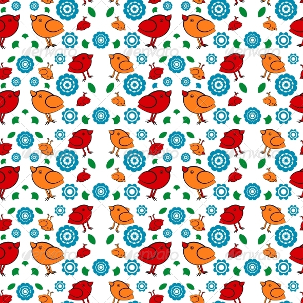 GraphicRiver Background with Birds for Printing 4892094