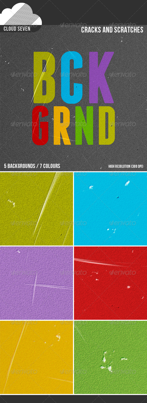 GraphicRiver Cracks and Scratches Backgrounds 4892186