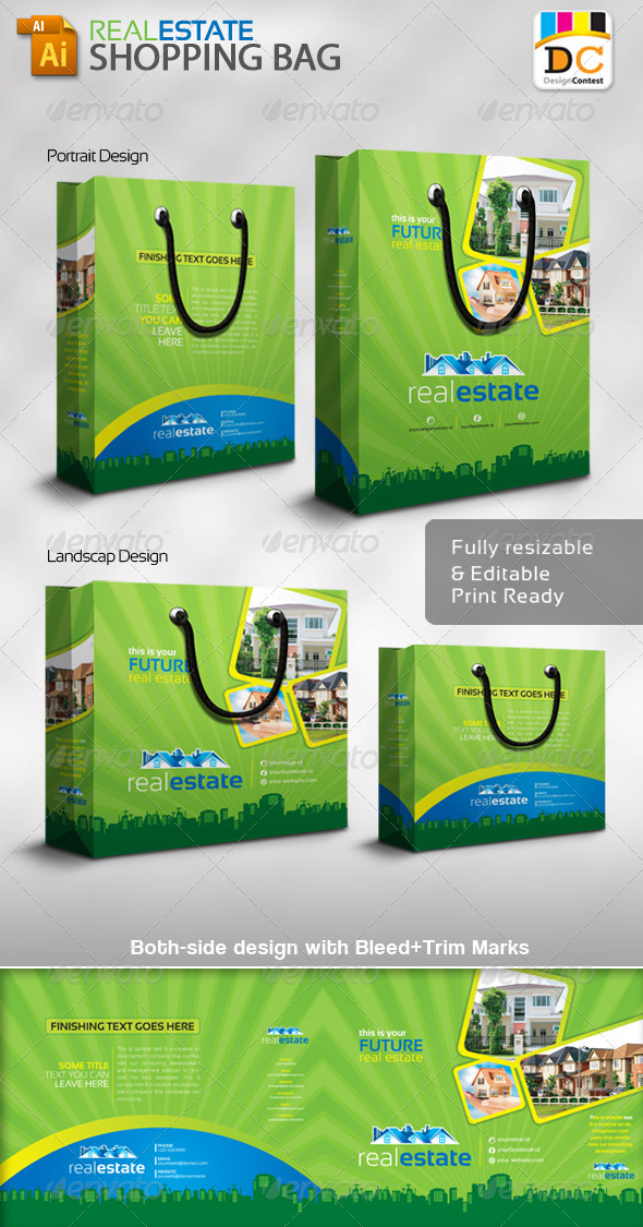 GraphicRiver Real Estate Shopping Bag Packaging 4892256