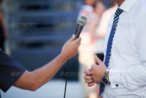 Interview with a Businessman - Stock Photo - Images