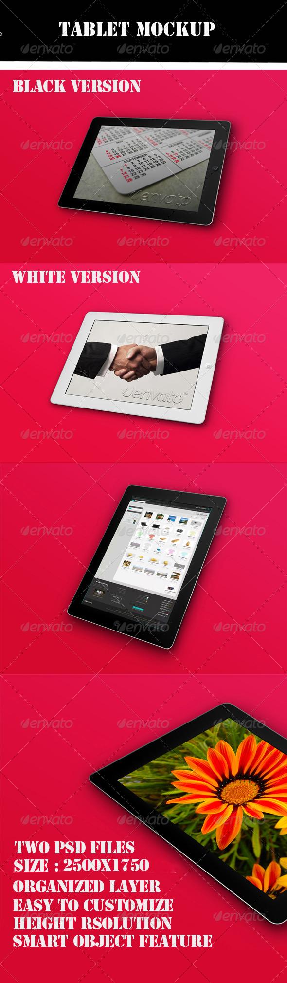 GraphicRiver Tablet Mockup 4870005