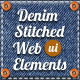 Denim Stitched Web Elements and UI Kit - GraphicRiver Item for Sale