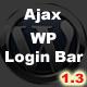 Ajax Login/Registration Bar WordPress - CodeCanyon Item for Sale
