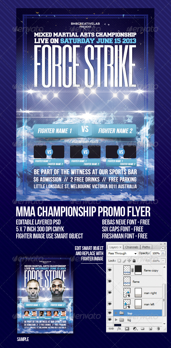 GraphicRiver MMA Fight Event Promo Flyer 4815378