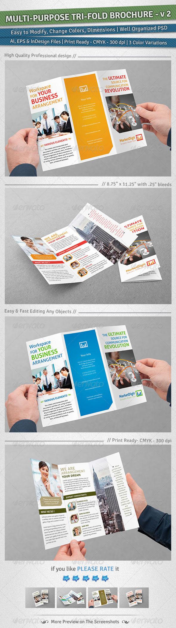 GraphicRiver Multi-Purpose Tri-Fold Brochure Volume 2 4892689