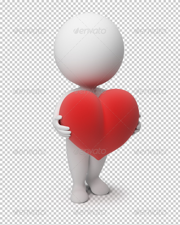 GraphicRiver 3D Small People Heart 4892784