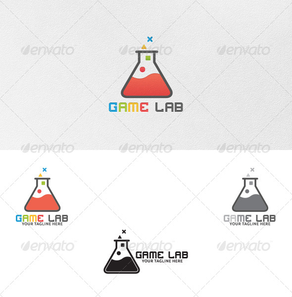 GraphicRiver Game Lab Logo Template 4892993