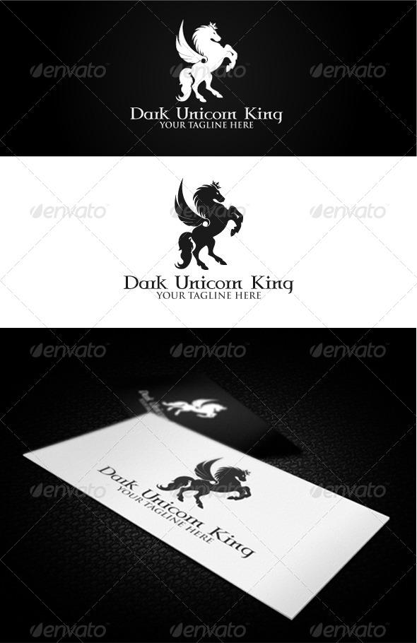 GraphicRiver Dark Unicorn King Logo 4863284
