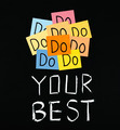 Do your best, words on blackboard. - PhotoDune Item for Sale