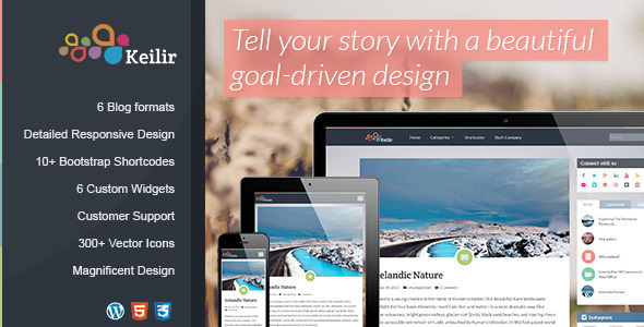 ThemeForest Keilir Responsive Wordpress Blog Theme 4893662