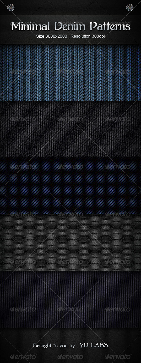 GraphicRiver Minimal Denim Patterns 506152