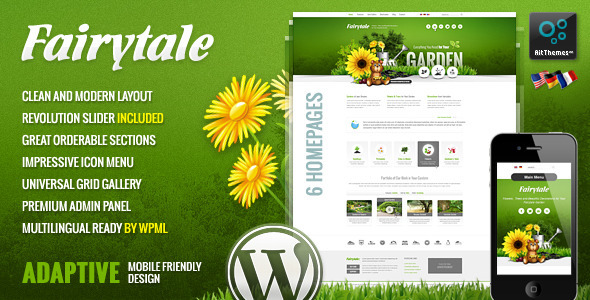 ThemeForest Fairytale Business Presentation Adaptive WP Theme 4893681