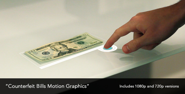 Counterfeit Bills Motion Graphics