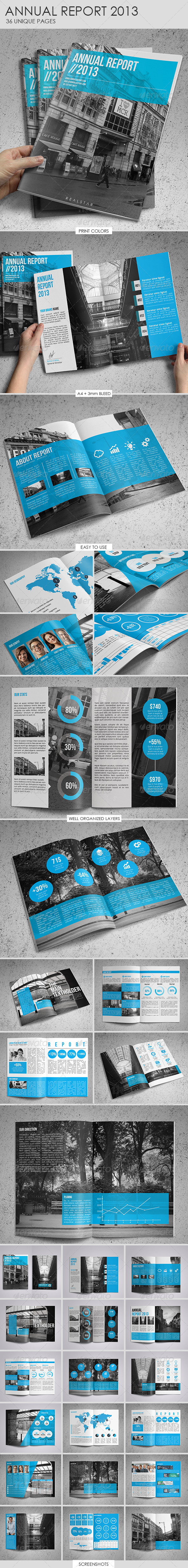 GraphicRiver Annual Report Template 4894871