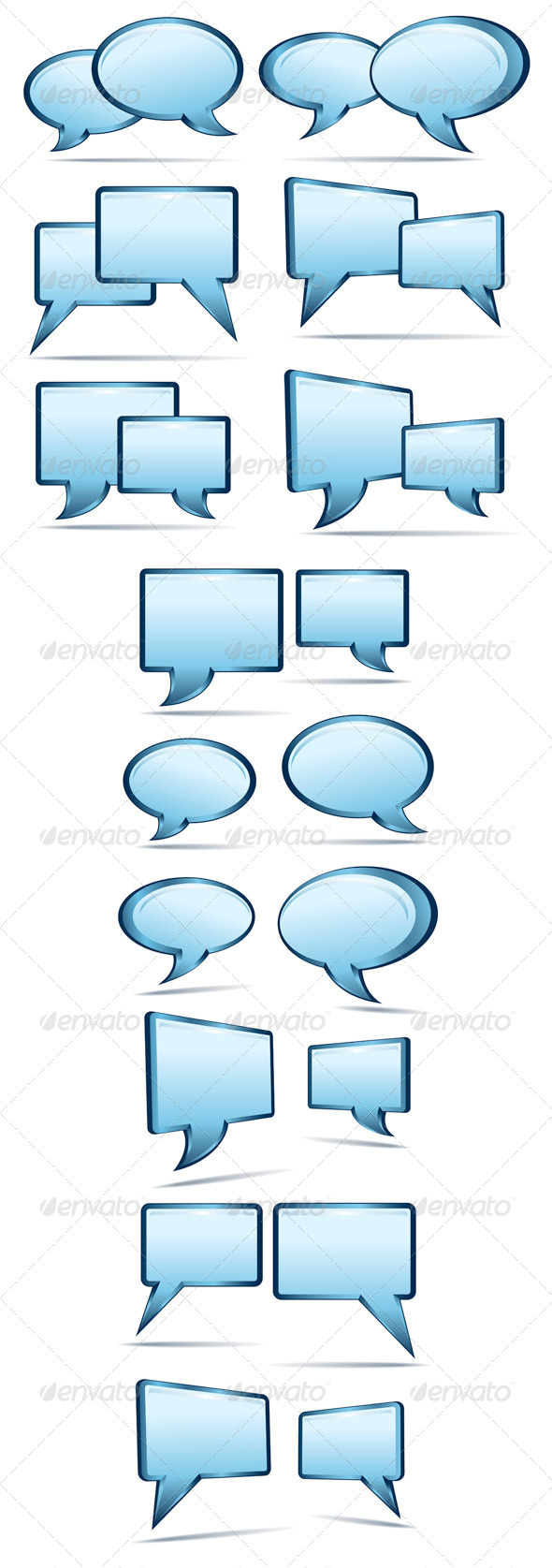 GraphicRiver Blue 3D and 2D Speech Bubbles 4894874