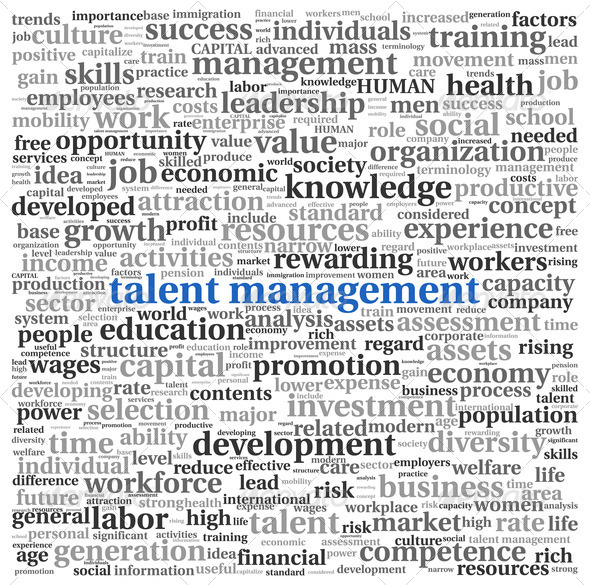 Talent management in word tag cloud - Stock Photo - Images