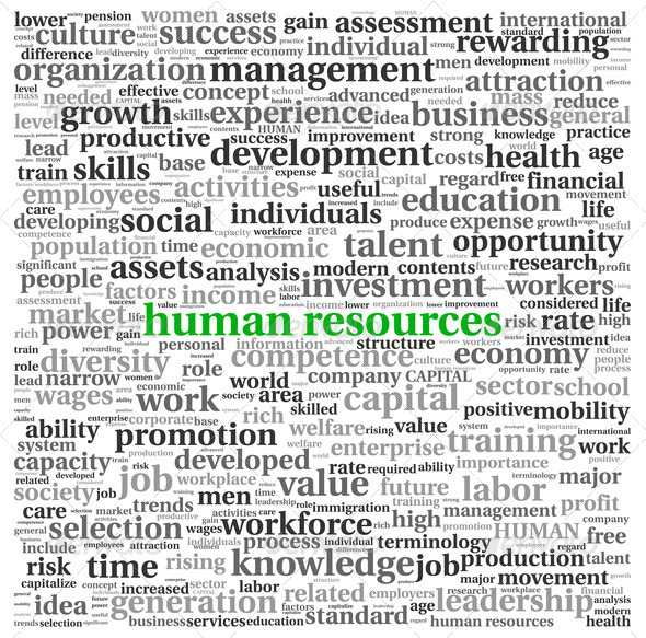 Human resources concept in tag cloud - Stock Photo - Images